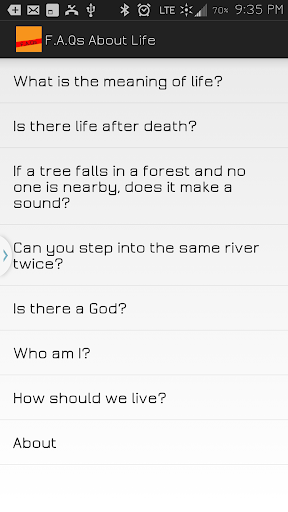 FAQs About Life