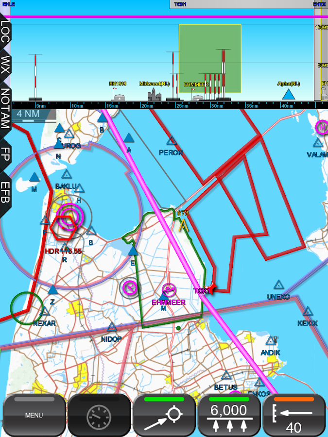 PocketFMS EasyVFR for Pilots - screenshot