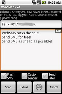 WebSMS: Cherry-SMS Connector - screenshot thumbnail