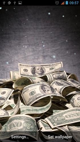 Money Live Wallpaper Android App Screenshot