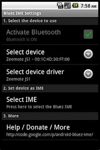 Bluez IME - screenshot thumbnail