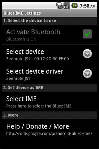 Bluez IME- screenshot