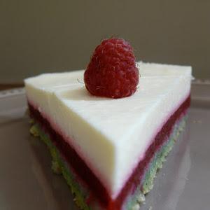 Striped Pistachio, Raspberry, and Lemon Cake