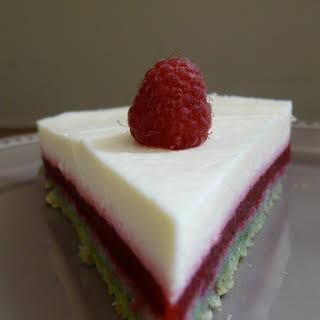 Striped Pistachio, Raspberry, and Lemon Cake.
