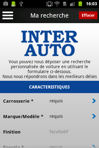 Inter Auto - screenshot