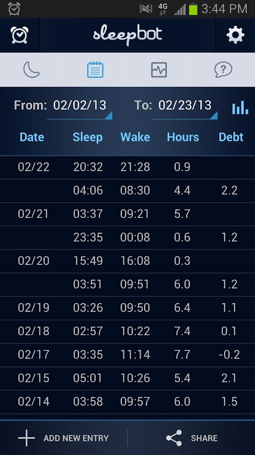 SleepBot - Sleep Cycle Alarm- screenshot