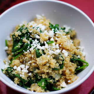 Spinach and Quinoa with Feta.