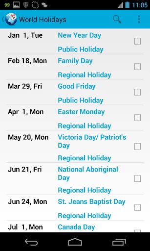 World Holidays Pro