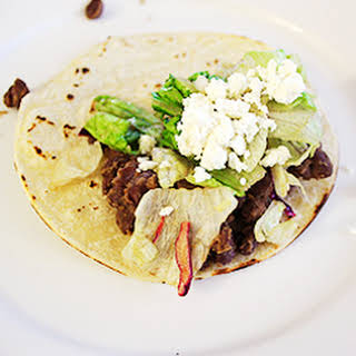 Black Bean Tacos with Cumin and Lime.