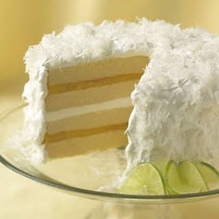 Coconut Cake with Lime Curd Filling.