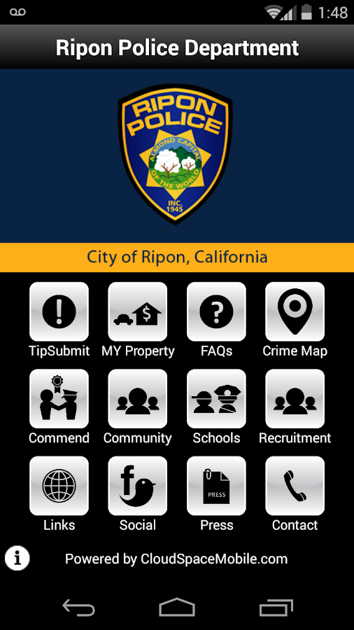 Ripon Police Department- screenshot