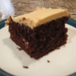 Chocolate Cake with Peanut Butter Frosting.