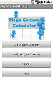 Mega Coupon Calculator screenshot 0
