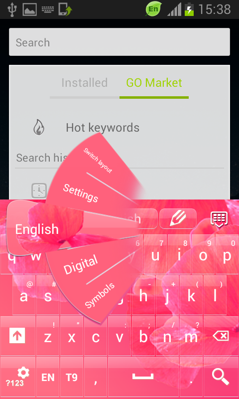 Love Petals Keyboard - screenshot