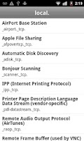 Screenshot of Bonjour Browser