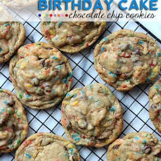 Birthday Cake Chocolate Chip Cookies.