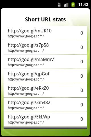Goo.gl URL shortener (Ad free) - screenshot