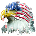 American Independence Day cloc logo