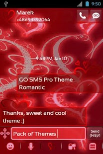 Theme Romantic for GO SMS Pro- screenshot thumbnail