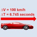 Car performance 0 to 100 times icon