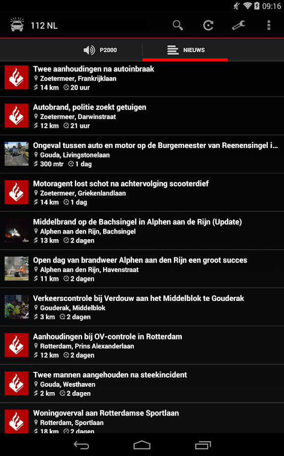 112-Nederland: screenshot