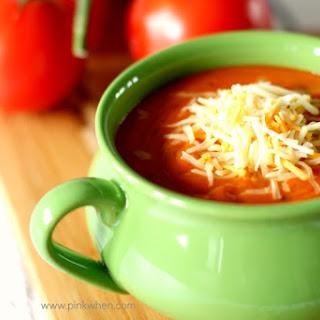 Rich Roasted Tomato Basil Soup