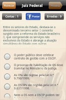 Screenshot of Concurso de Juiz Federal