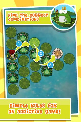 King of Frogs Puzzle Pond - screenshot