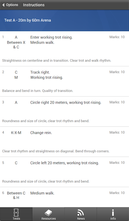 USDF EquitTests 1 - Dressage- screenshot