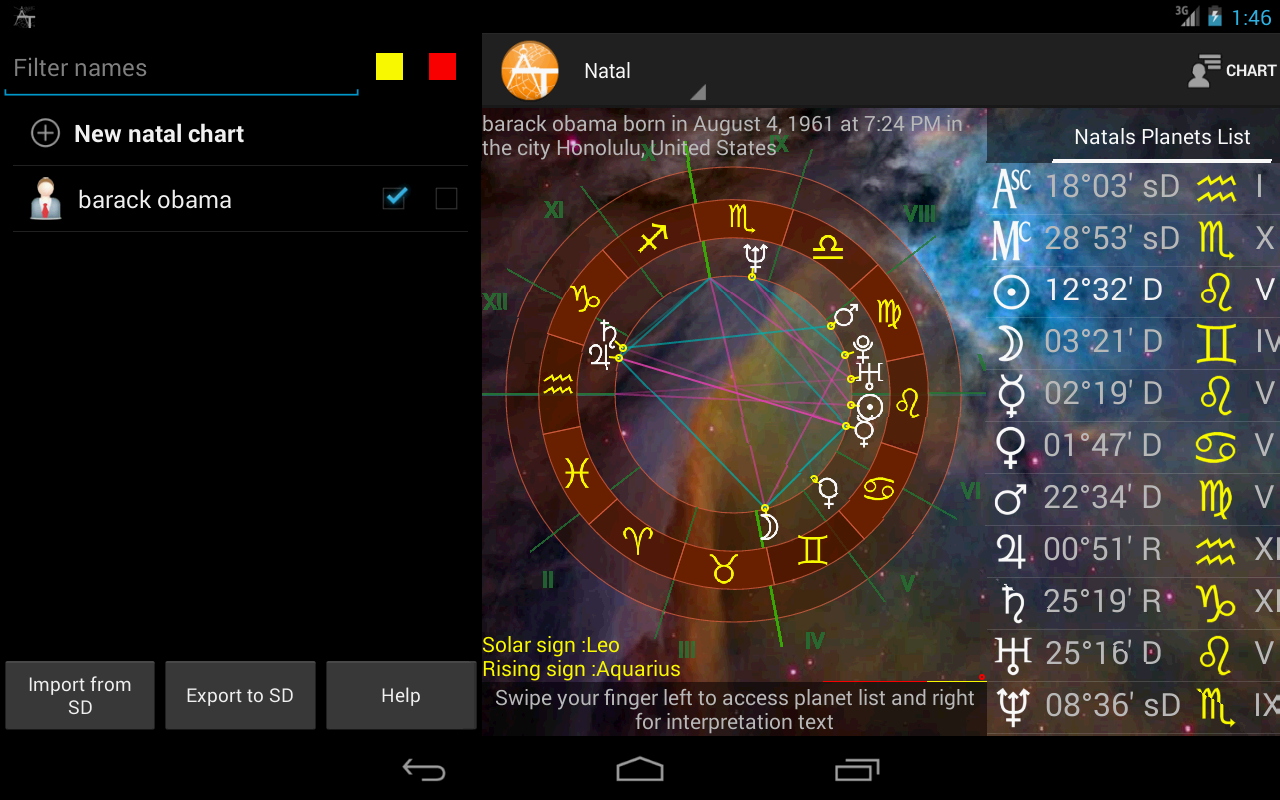 AstroTab - screenshot