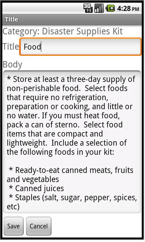Family Preparedness Planner - screenshot
