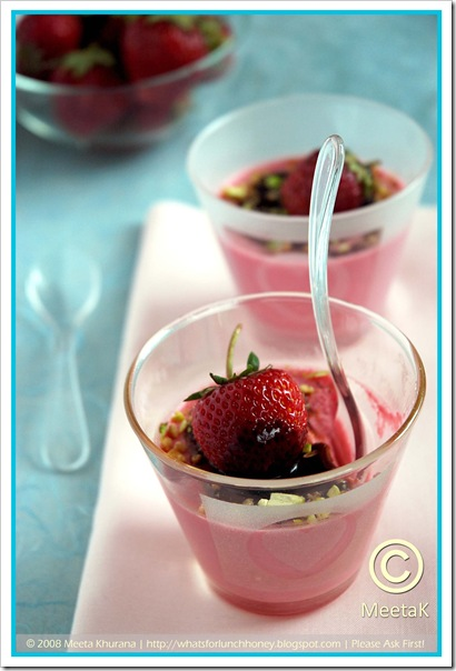 Strawberry Panna Cotta (06) by MeetaK