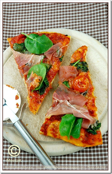 Pizza-Parma Spinach (02) by MeetaK