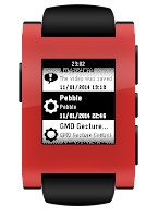 Screenshot of Notification Center for Pebble