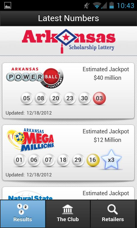 Arkansas Scholarship Lottery - screenshot