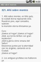 Screenshot of Nuevo Himnario Adventista