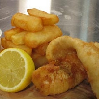 Beer Battered Fish And Chips.