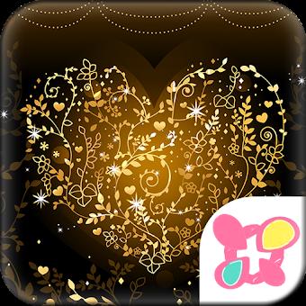 Heart Theme-Golden Vines-