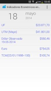 Indicadores Económicos Chile - screenshot thumbnail