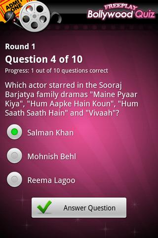 FreePlay Bollywood Quiz- screenshot