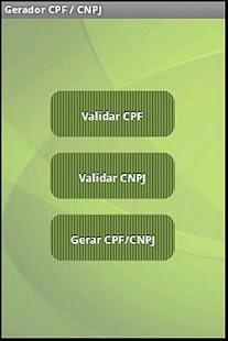 CPF / CNPJ Gerador e Validador - screenshot thumbnail