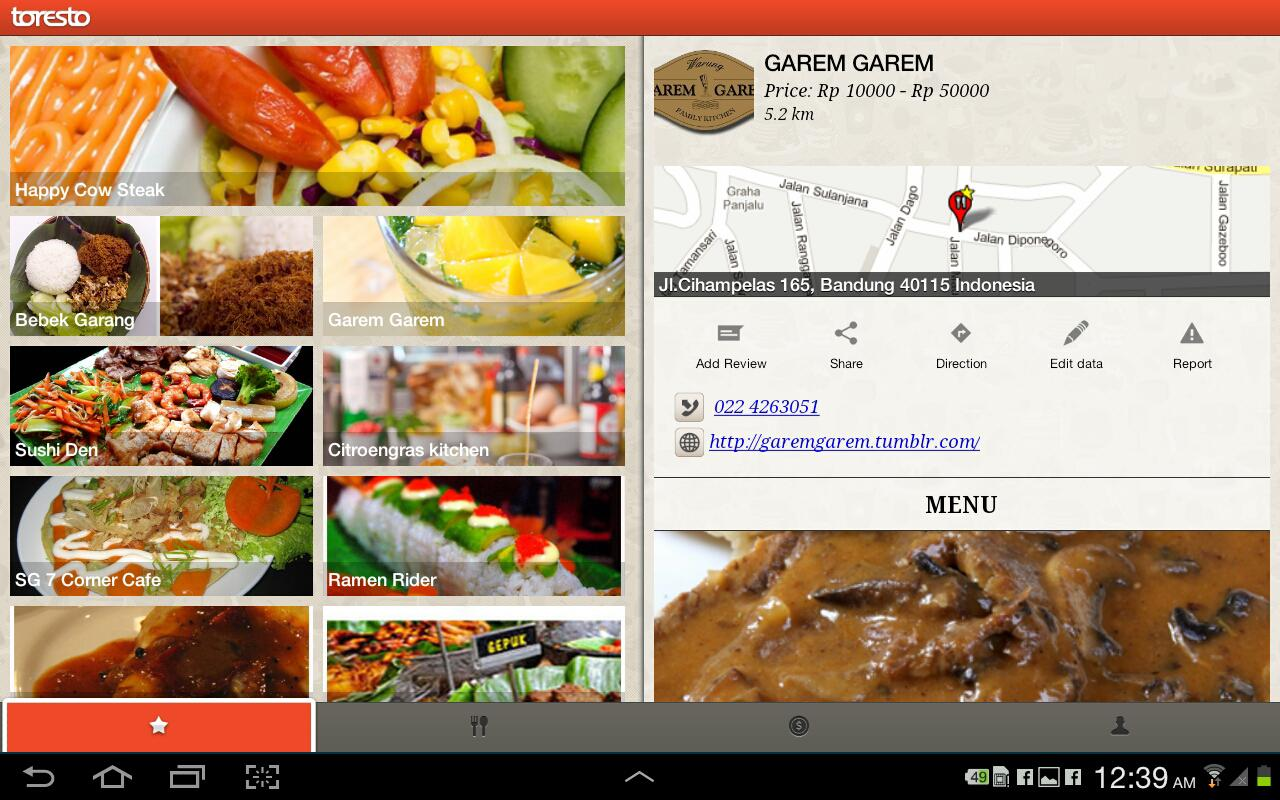 Restoran Indonesia (Toresto) - screenshot