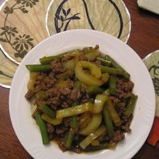 Asian Ground Beef and Pepper Saute