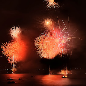 Water on Fire by Darrell Champlin - Public Holidays New Year's Eve