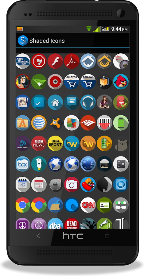 Shaded Icons- screenshot