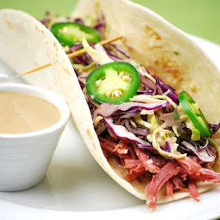 Corned Beef Tacos with Creamy Guinness Dipping Sauce Recipe