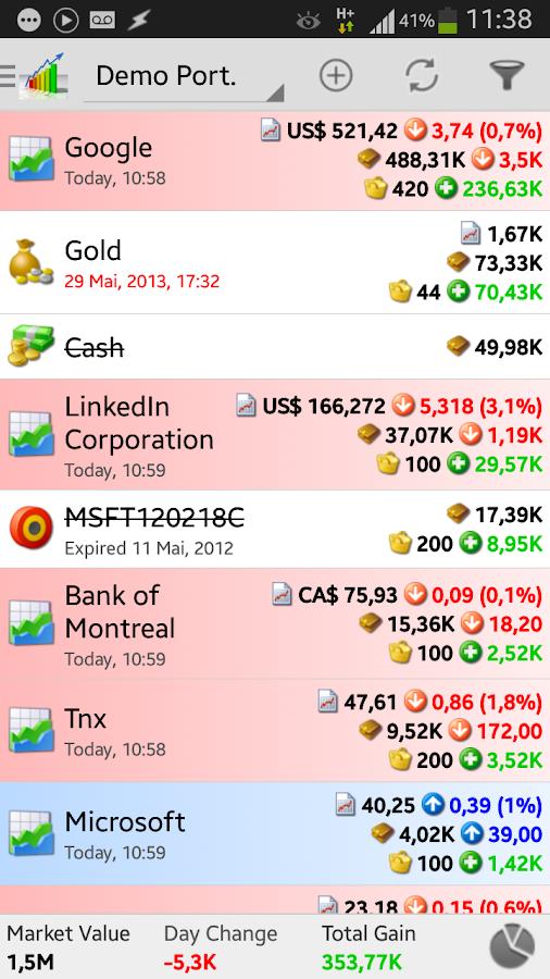 InvestControl - Portfolio Mgr. - screenshot