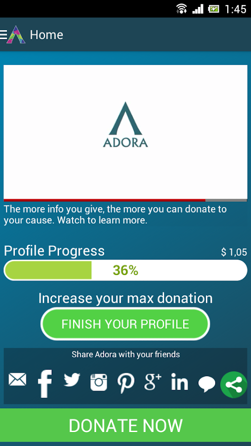 Adora Charity (Beta)- screenshot