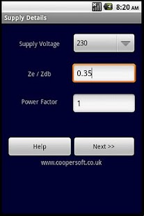 CABLE CALCULATOR BS7671:2008 - screenshot thumbnail