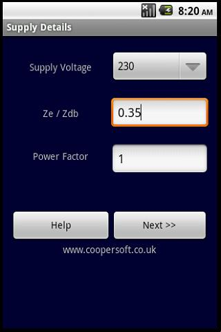 CABLE CALCULATOR BS7671:2008 - screenshot